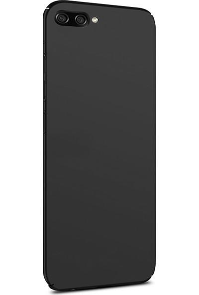 Caseup Asus Zenfone 4 Max (5.2'') ZC520KL Kılıf Rubber Siyah + Nano Cam