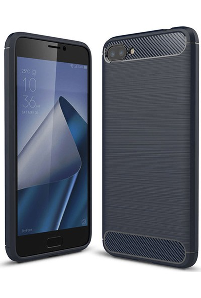 Caseup Asus Zenfone 4 Max (5.5'') ZC554KL Kılıf Room Silikon Lacivert + Nano Cam