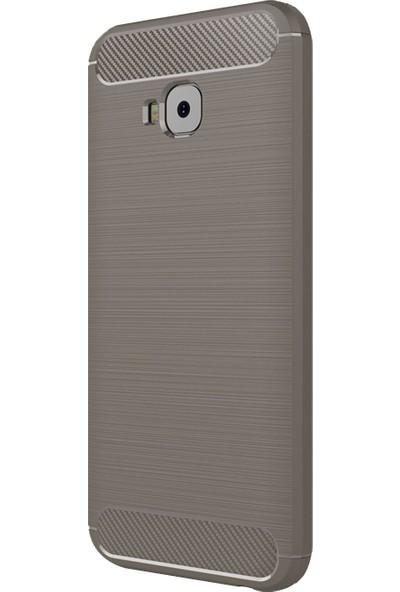 Caseup Asus Zenfone 4 Selife (5.5'') ZD553KL Kılıf Room Silikon Gri + Nano Cam