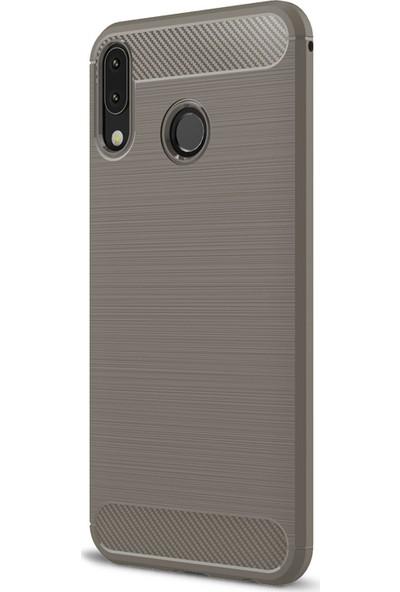 Caseup Asus Zenfone 5Z (6.2'') ZS620KL Kılıf Room Silikon Gri + Nano Cam