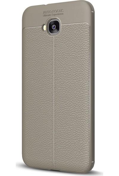 Caseup Asus Zenfone Live (5.5'') ZB553KL Kılıf Niss Silikon Gri + Nano Cam