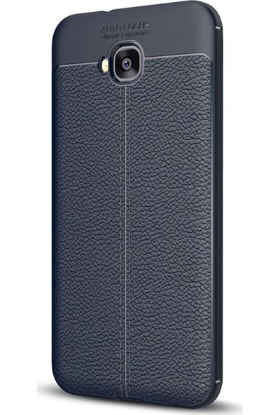 Caseup Asus Zenfone Live (5.5'') ZB553KL Kılıf Niss Silikon Lacivert + Nano Cam