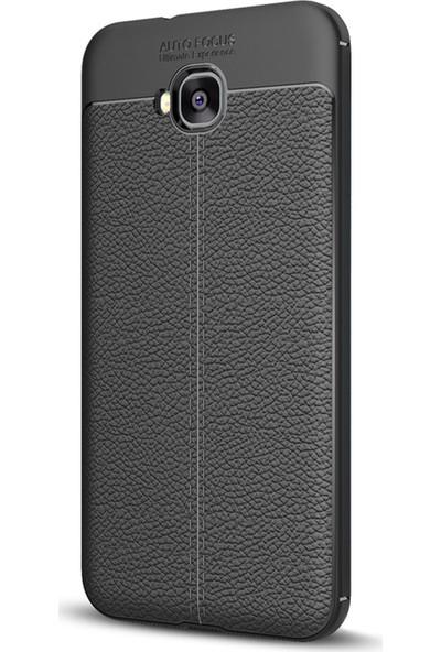 Caseup Asus Zenfone Live (5.5'') ZB553KL Kılıf Niss Silikon Siyah + Nano Cam