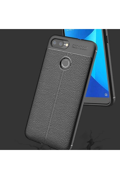 Caseup Asus Zenfone Max Plus M1 ZB570TL Kılıf Niss Silikon Gri + Nano Cam