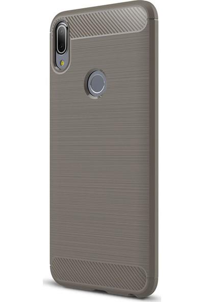 Caseup Asus Zenfone Max Pro M1 (5.99'') ZB601KL Kılıf Room Silikon Gri + Nano Cam
