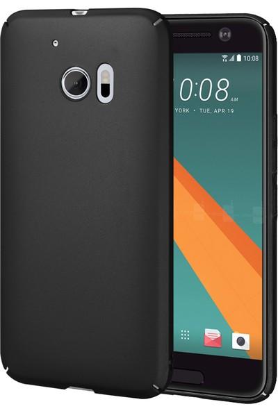 Caseup HTC 10 Kılıf Rubber Siyah + Nano Cam