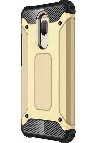 Caseup Huawei Mate 10 Lite Kılıf Tank Gold + Nano Cam