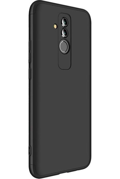 Caseup Huawei Mate 20 Lite Kılıf Triple Deluxe Shield Siyah + Nano Cam