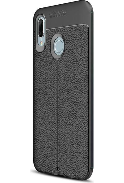 Caseup Huawei P Smart 2019 Kılıf Niss Silikon Siyah + Nano Cam