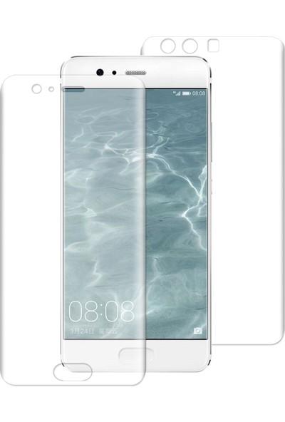 Caseup Huawei P10 Kavisli Şeffaf Ekran Koruma Seti - Ön Ve Arka