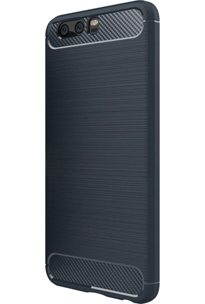 Caseup Huawei P10 Kılıf Room Silikon Lacivert + Nano Cam
