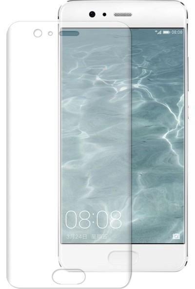 Caseup Huawei P10 Plus Kavisli Şeffaf Ekran Koruma Seti - Ön Ve Arka