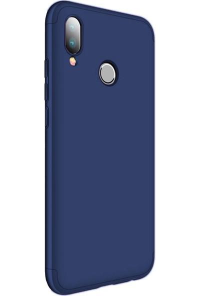 Caseup Huawei P20 Lite Kılıf Triple Deluxe Shield Lacivert + Nano Cam