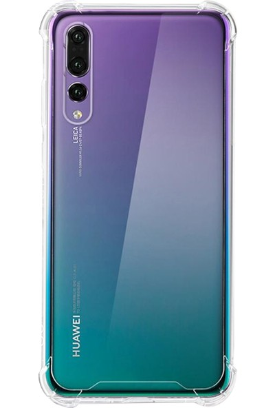Caseup Huawei P20 Pro Kılıf Titan Crystal Şeffaf + Nano Cam