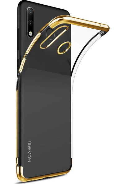 Caseup Huawei P30 Lite Kılıf Laser Glow Gold + Nano Cam