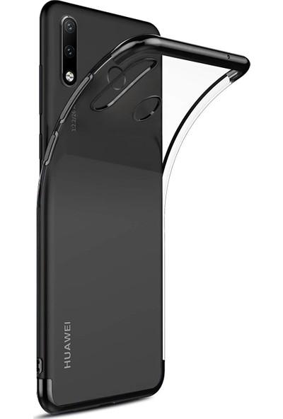 Caseup Huawei P30 Lite Kılıf Laser Glow Siyah + Nano Cam