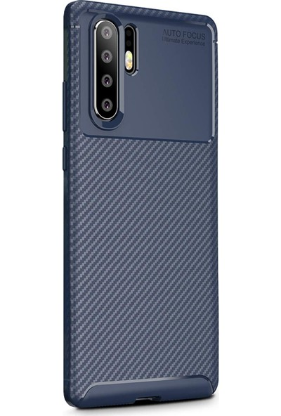 Caseup Huawei P30 Pro Kılıf Fiber Design Lacivert + Nano Cam