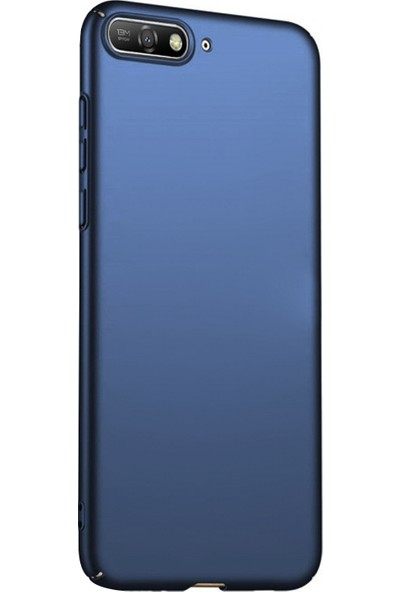 Caseup Huawei Y6 2018 Kılıf Rubber Lacivert + Nano Cam