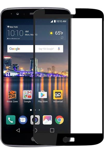 Caseup LG Stylus 3 Kavisli Ekran Koruyucu Siyah