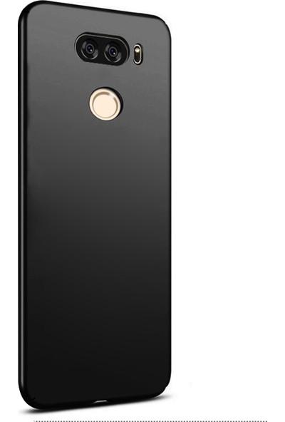 Caseup LG V30 Kılıf Rubber Siyah + Nano Cam