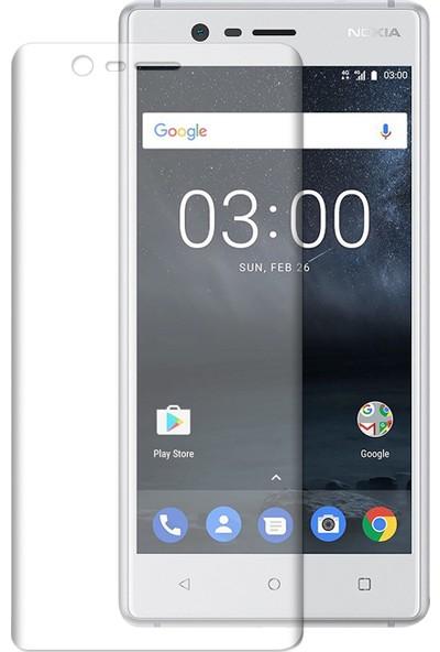 Caseup Nokia 3 Kavisli Şeffaf Ekran Koruma Seti - Ön Ve Arka