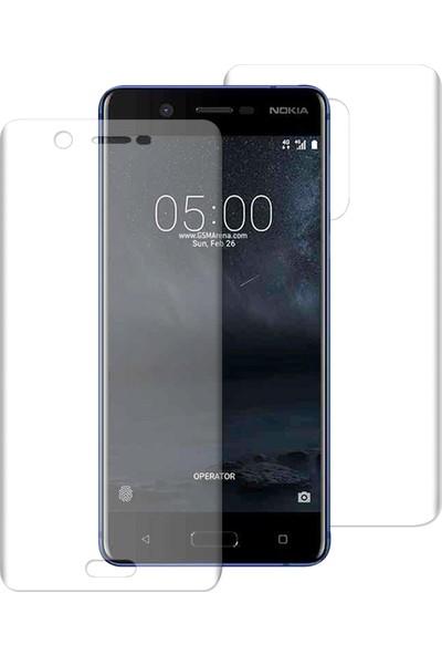 Caseup Nokia 5 Kavisli Şeffaf Ekran Koruma Seti - Ön Ve Arka