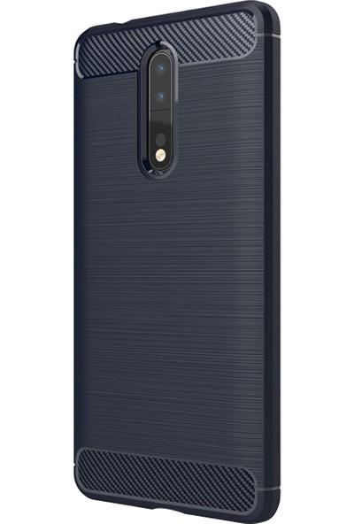 Caseup Nokia 8 Kılıf Room Silikon Lacivert + Nano Cam