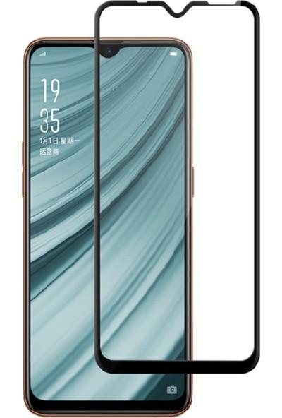 Caseup Oppo Ax7 Ekranı Tam Kapatan Ekran Koruyucu Siyah