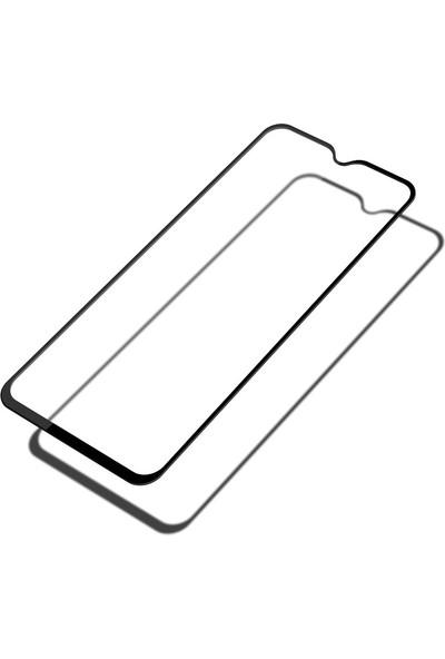 Caseup Oppo RX17 Neo Ekranı Tam Kapatan Ekran Koruyucu Siyah