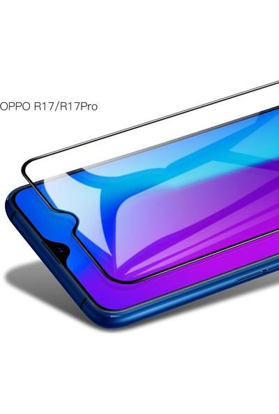 Caseup Oppo RX17 Pro Ekranı Tam Kapatan Ekran Koruyucu Siyah
