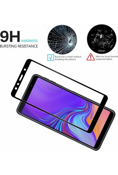 Caseup Samsung Galaxy A7 2018 Kavisli Ekran Koruyucu Siyah