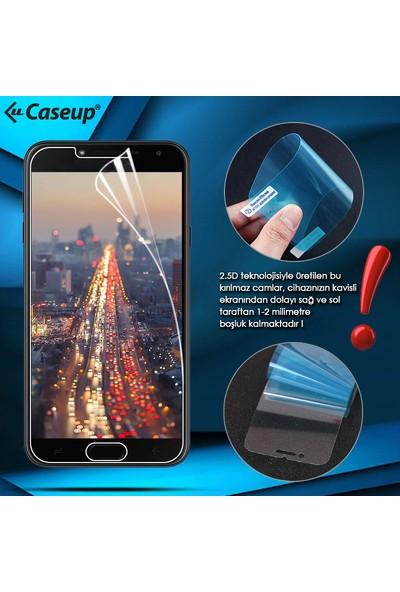 Caseup Samsung Galaxy A8 2018 Kılıf Cüzdanlı Suni Deri Kırmızı + Nano Cam