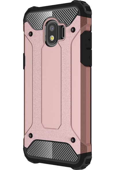 Caseup Samsung Galaxy J2 Pro 2018 Kılıf Tank Rose Gold + Nano Cam