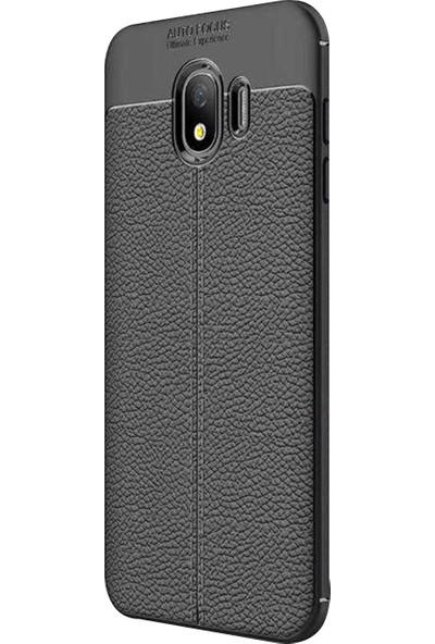 Caseup Samsung Galaxy J4 Kılıf Niss Silikon Siyah + Nano Cam