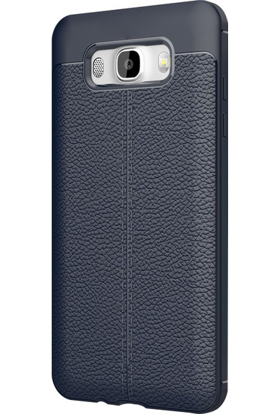 Caseup Samsung Galaxy J5 2016 Kılıf Niss Silikon Lacivert + Nano Cam