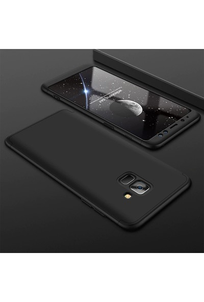 Caseup Samsung Galaxy J6 Kılıf Triple Deluxe Shield Siyah + Nano Cam