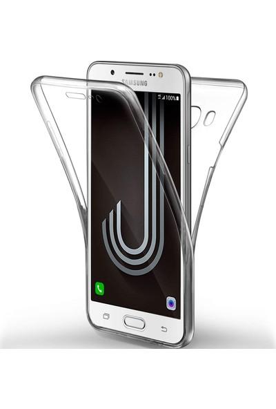 Caseup Samsung Galaxy J7 2016 Kılıf 360 Çift Taraflı Silikon Şeffaf + Nano Cam