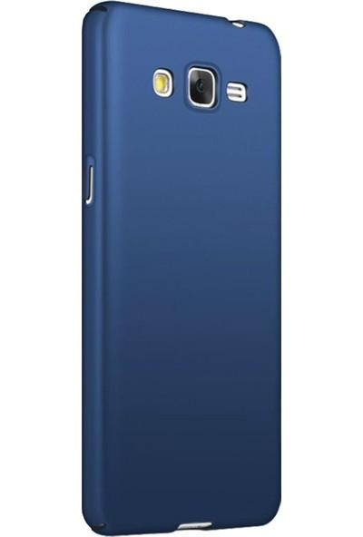 Caseup Samsung Galaxy J7 Core Kılıf Rubber Lacivert + Nano Cam