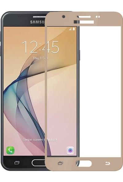 Caseup Samsung Galaxy J7 Prime 2 Kavisli Ekran Koruyucu Gold