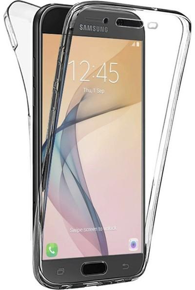 Caseup Samsung Galaxy J7 Prime Kılıf 360 Çift Taraflı Silikon Şeffaf + Nano Cam