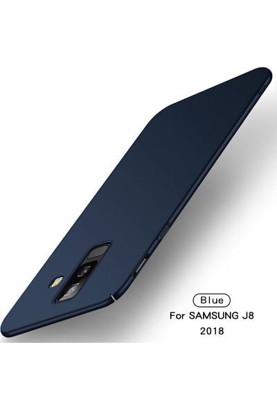 Caseup Samsung Galaxy J8 Kılıf Rubber Lacivert + Nano Cam