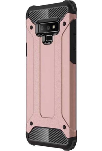 Caseup Samsung Galaxy Note 9 Kılıf Tank Rose Gold + Nano Cam
