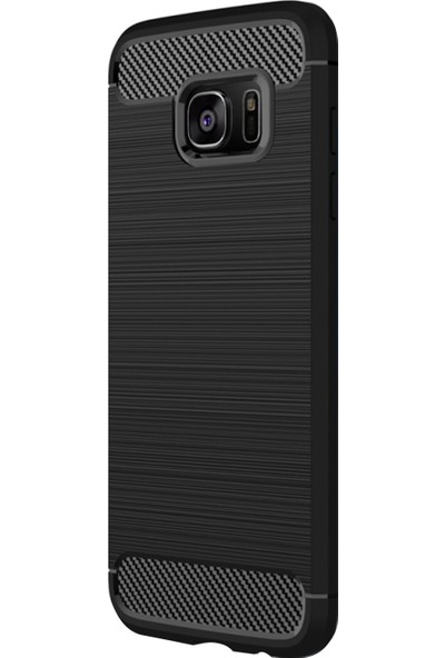 Caseup Samsung Galaxy S7 Edge Kılıf Room Silikon Siyah + Nano Cam
