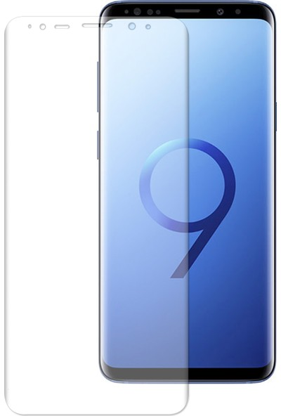 Caseup Samsung Galaxy S9 Plus Kavisli Ekran Koruyucu Şeffaf
