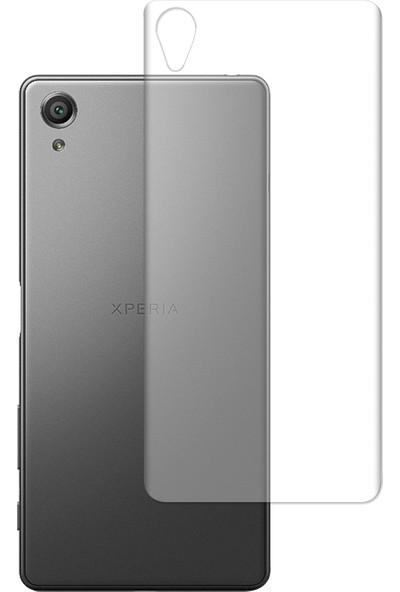 Caseup Sony Xperia Xa Kavisli Şeffaf Ekran Koruma Seti - Ön Ve Arka
