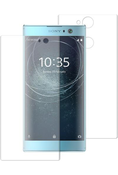 Caseup Sony Xperia Xa2 Kavisli Şeffaf Ekran Koruma Seti - Ön Ve Arka