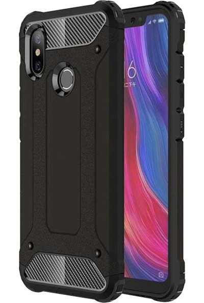 Caseup Xiaomi Mi 8 Se Kılıf Tank Siyah + Nano Cam