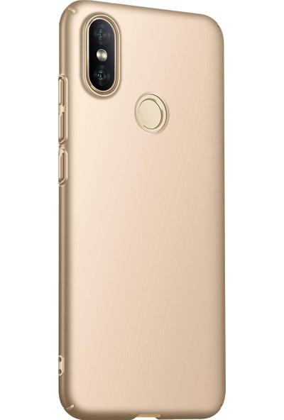 Caseup Xiaomi Mi A2 (Mi 6X) Kılıf Rubber Gold + Nano Cam