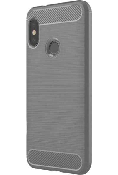 Caseup Xiaomi Mi A2 (Redmi 6 Pro) Kılıf Room Silikon Gri + Nano Cam