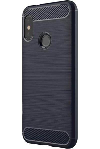 Caseup Xiaomi Mi A2 (Redmi 6 Pro) Kılıf Room Silikon Lacivert + Nano Cam